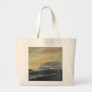 Emden rides the waves Indian Ocean 1914 2011 Large Tote Bag