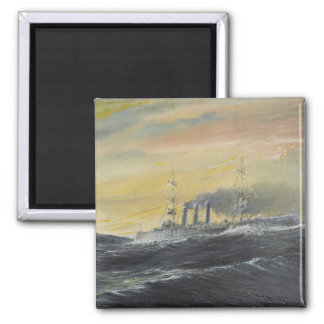 Emden rides the waves Indian Ocean 1914 2011 Square Magnet