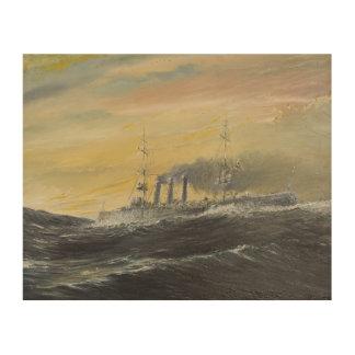 Emden rides the waves Indian Ocean 1914 2011 Wood Wall Art