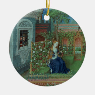 Emelye in her garden. The imprisoned knights Palam Christmas Ornament