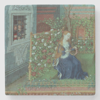 Emelye in her garden. The imprisoned knights Palam Stone Coaster