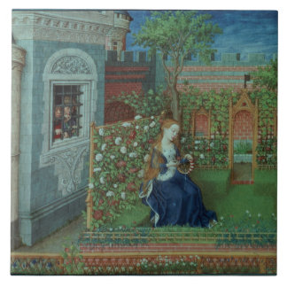 Emelye in her garden. The imprisoned knights Palam Tile