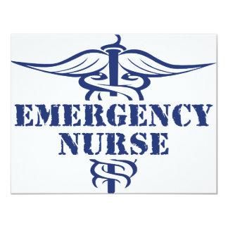 "emer nurse 4.25"" x 5.5"" invitation card"
