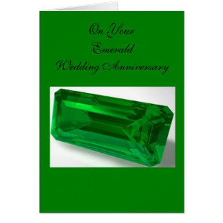 Emerald 55th Wedding Anniversary Card