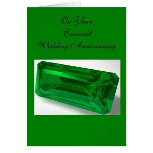 Emerald 55th Wedding Anniversary Card