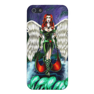 """Emerald Angel iPhone 5/5s Matte case by """"CaseSavvy iPhone 5 Cases"""