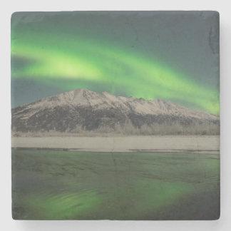 Emerald Aurora Stone Beverage Coaster