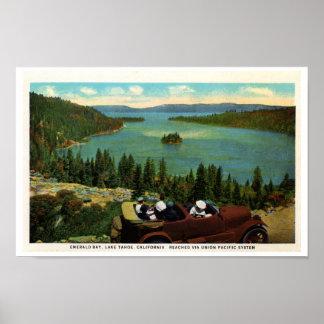 Emerald Bay, Lake Tahoe 1920's Poster