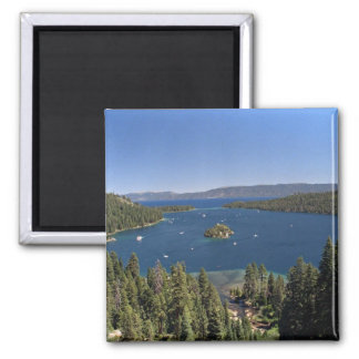 Emerald Bay, Lake Tahoe, California, USA Square Magnet