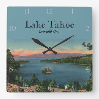 Emerald Bay Lake Tahoe Custom Square Wall Clock