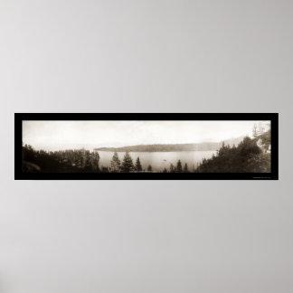 Emerald Bay Lake Tahoe Photo 1906 Poster