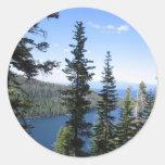 Emerald Bay Round Sticker