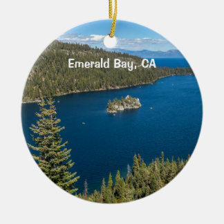 Emerald Bay with Lake Tahoe Christmas Ornament