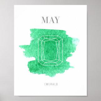 Emerald Birthstone Poster