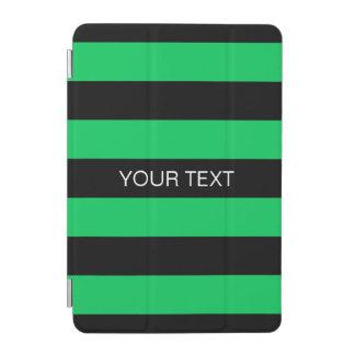 Emerald Black Horiz Preppy Stripe #3 Name Monogram iPad Mini Cover