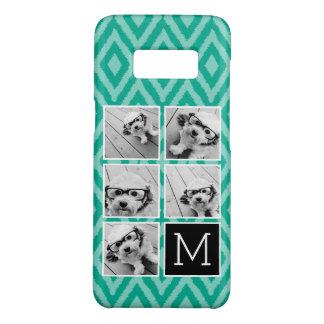 Emerald & Black Instagram 5 Photo Collage Monogram Case-Mate Samsung Galaxy S8 Case