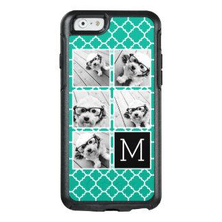 Emerald & Black Instagram 5 Photo Collage Monogram OtterBox iPhone 6/6s Case