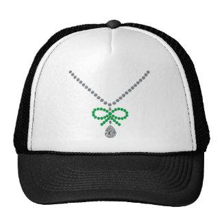 Emerald Bow Necklace Cap