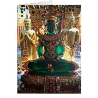 Emerald Buddha and Nagas in Thailand Card
