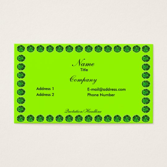 Emerald business card