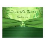 Emerald Celtic Love Knot Save the Date Postcard