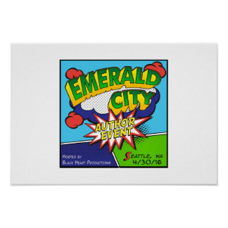 Emerald City Author Event Poster