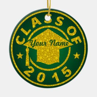 Emerald Class Of 2015 Graduation Ornaments