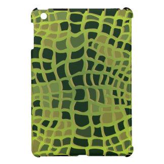 Emerald Crocodile Skin Pattern iPad Mini Cover