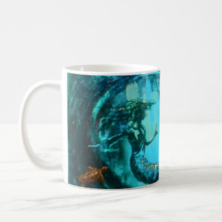 """Emerald Currents "" - mermaid mug"