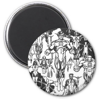 Emerald Dawn Cover, Black and White Magnet