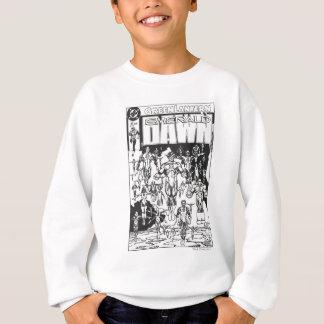 Emerald Dawn Cover, Black and White Sweatshirt