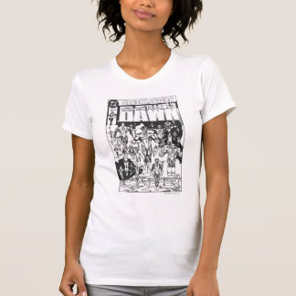 Emerald Dawn Cover, Black and White T-Shirt