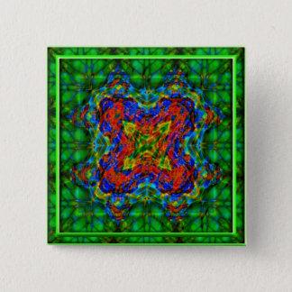 Emerald Depths 15 Cm Square Badge