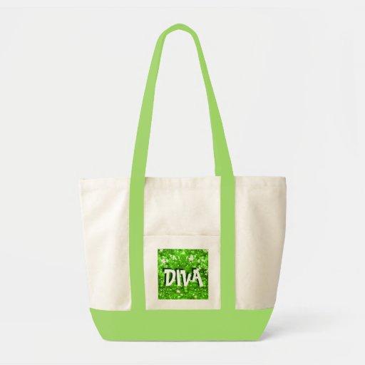 Emerald Diva glamour bag tote