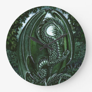 Emerald Dragon Wall Clock