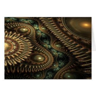 Emerald dreams greeting card