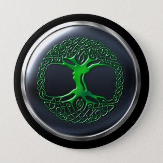 Emerald Druid Warrior Shield 10 Cm Round Badge