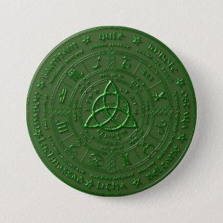 Emerald Earth Celtic Zodiac Button