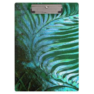 Emerald Feathering I Clipboard