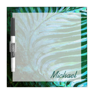 Emerald Feathering I Dry Erase Board
