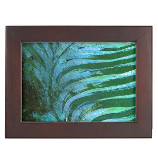 Emerald Feathering I Keepsake Box