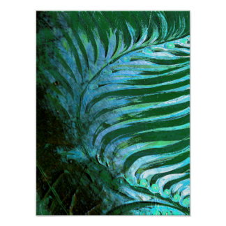 Emerald Feathering I Poster
