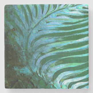 Emerald Feathering I Stone Coaster