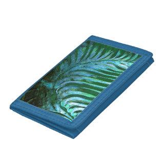 Emerald Feathering I Tri-fold Wallets