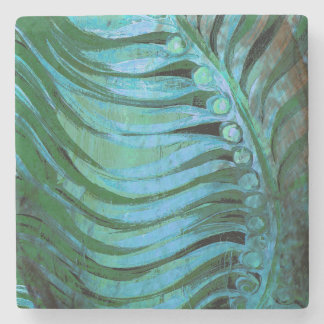 Emerald Feathering II Stone Coaster