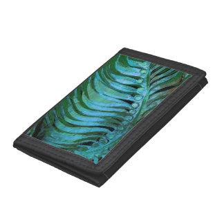 Emerald Feathering II Tri-fold Wallets