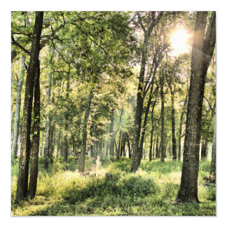 Emerald Forest Magnetic Invitations