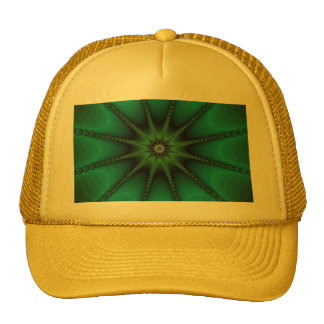 Emerald Fractal Starburst Hat
