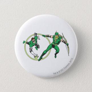 Emerald Gladiator & Emerald Archer 6 Cm Round Badge