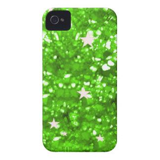 Emerald glitter  stars iphone 4 barely case